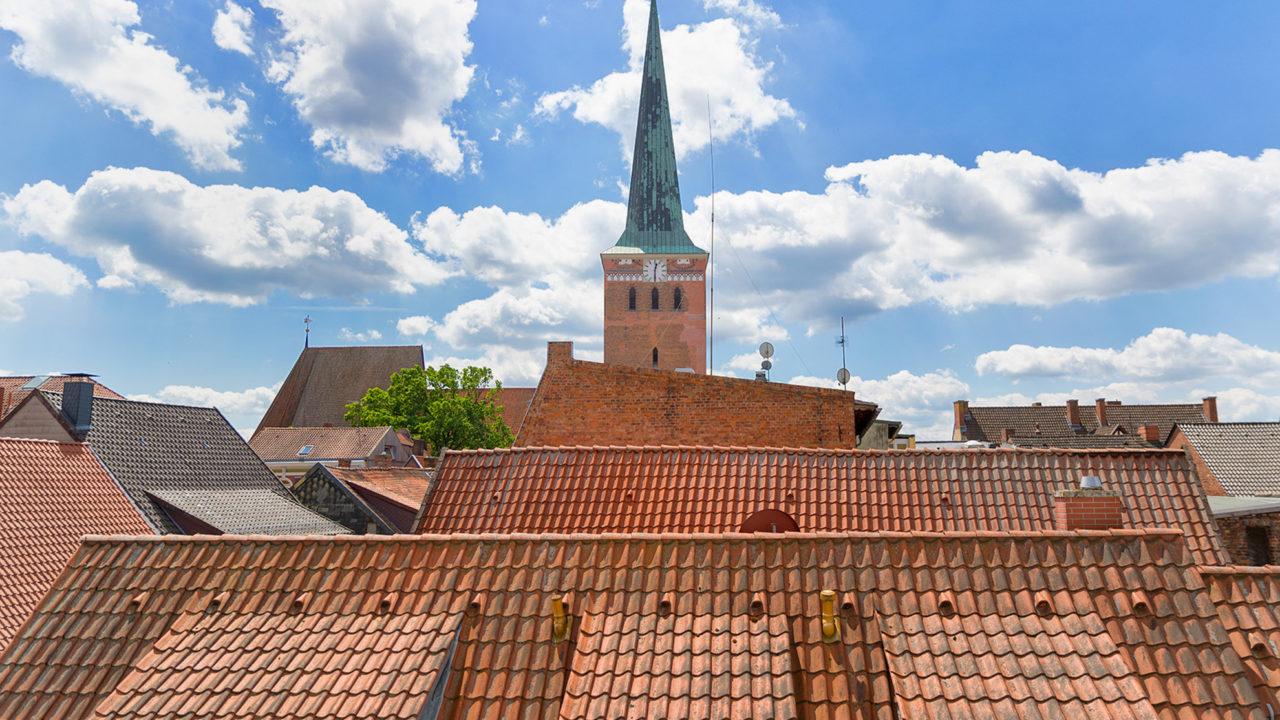 Blick über die Dächer von Uelzen aus dem Altenheim Seniorenresidenz Uelzen